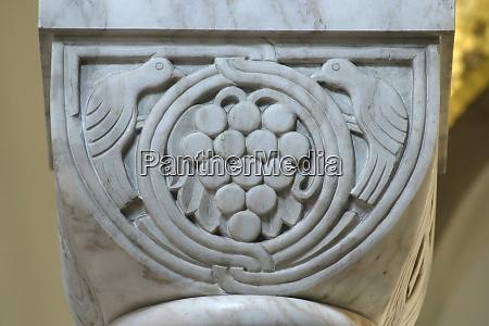 historic church column ornate detail close