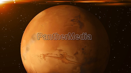 planet mars in space abstract 3d