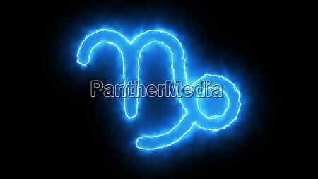 3d rendering zodiac symbol digital background