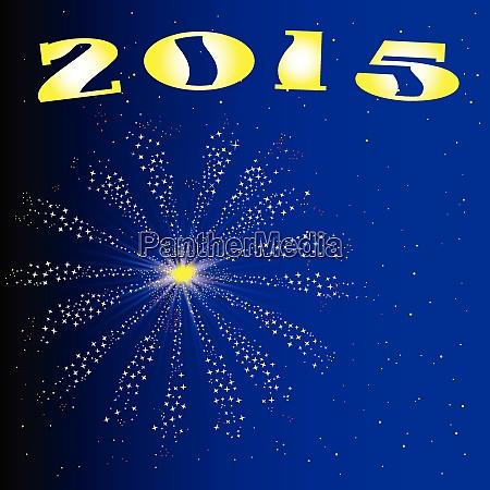 2015 new year firework