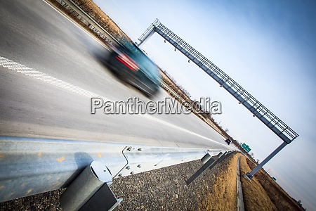highway traffic motion blurred cars