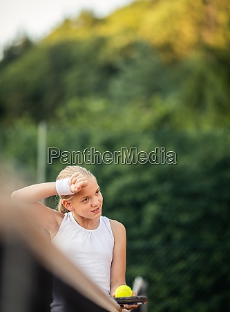 portrait of a young female tennis