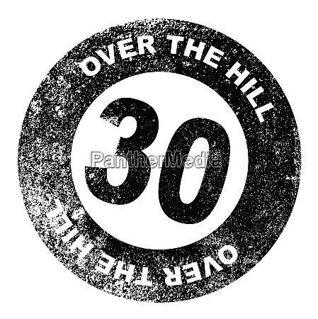over the hill 30 stamp
