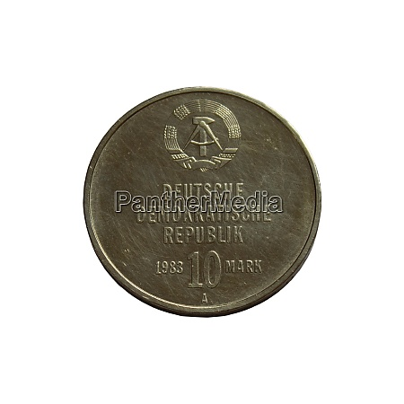 old coin of the german democratic