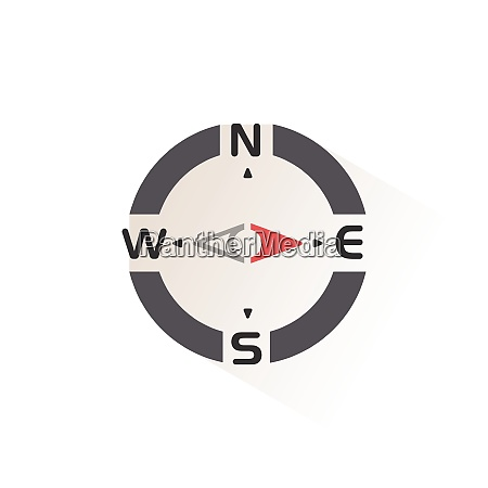 compass east direction isolated color icon