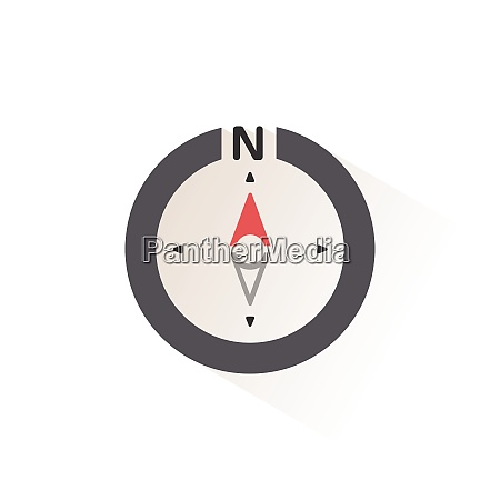 north direction compass isolated color icon