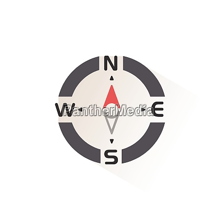 compass., north, direction., isolated, color, icon. - 28972981