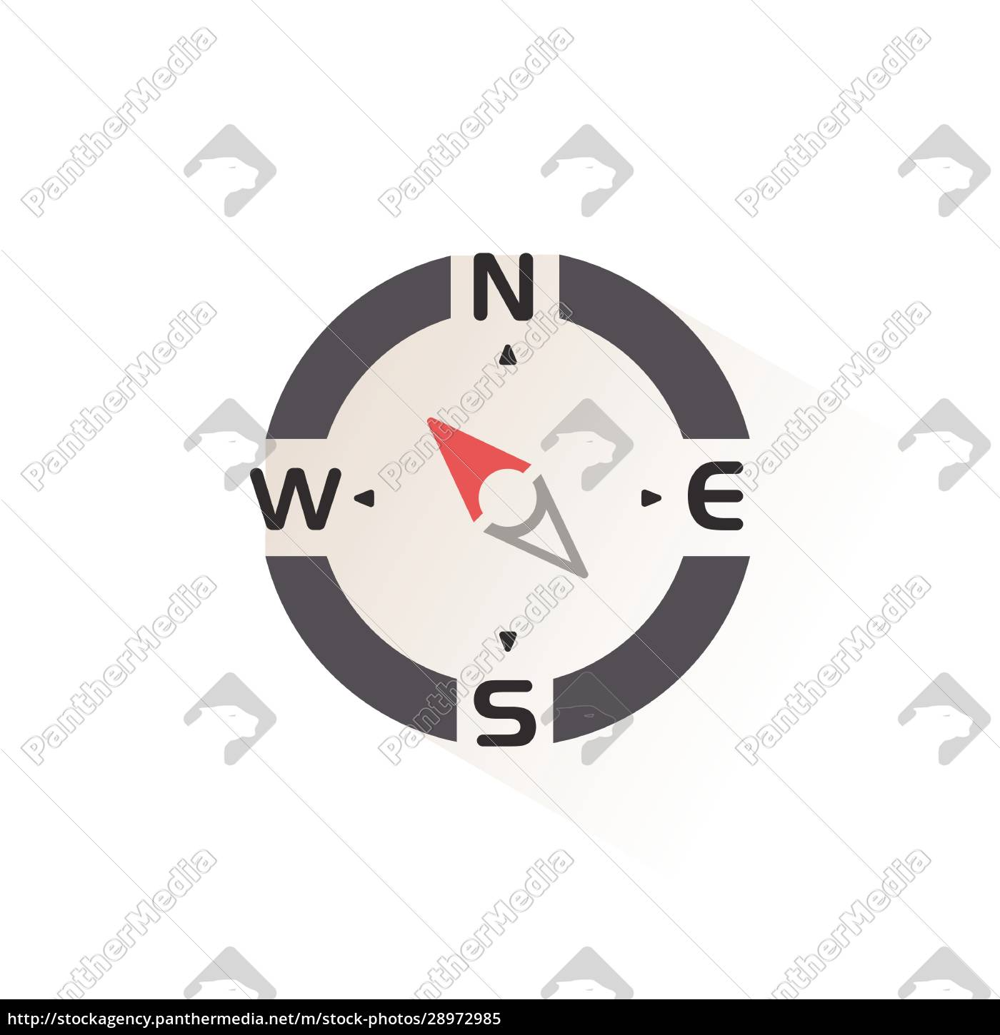compass., north, west, direction., isolated, color - 28972985