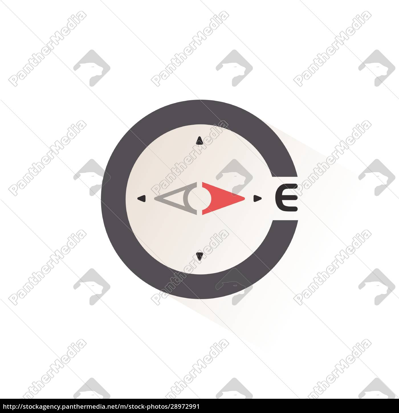 east, direction., compass., isolated, color, icon. - 28972991