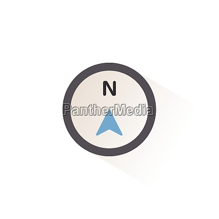 north, direction., isolated, color, icon., weather - 28972996