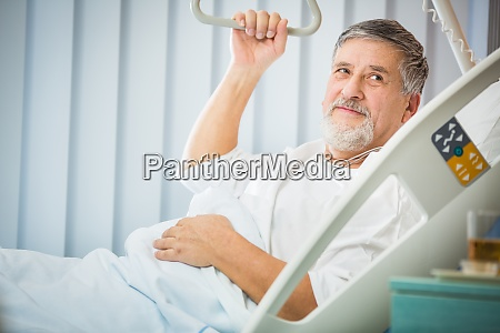 senior male patient in a modern