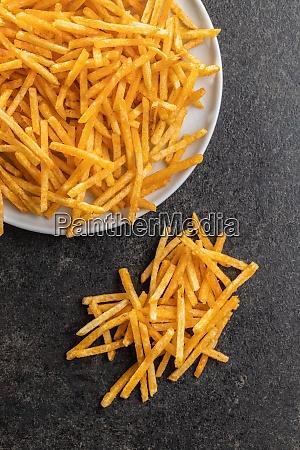 french fries fried mini potato sticks