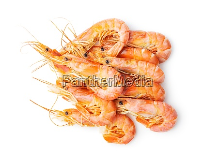 boiled tiger prawns tasty shrimps