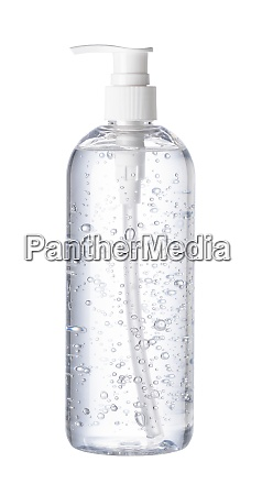 hand sanitizer placed on a