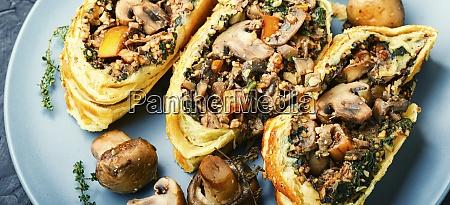 homemade mushroom pie