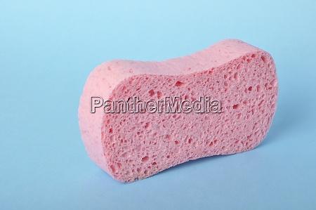 sponge on blue background