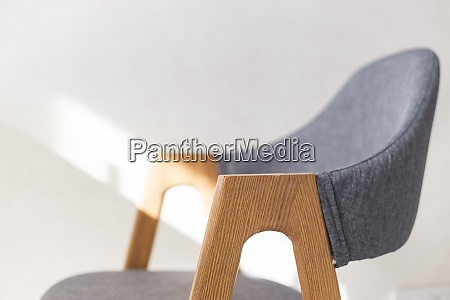 contemporary modern kitchen armchair with wooden