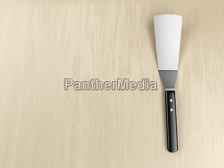 kitchen spatula on the table
