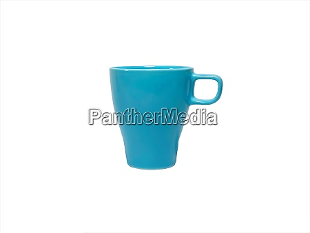 blue mug isolated on white background