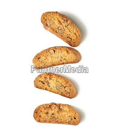 baked piece italian almond biscotti cantuccini