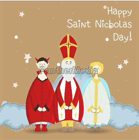 st nicholas day greeting poster winter