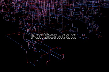 3d abstract background geometric connections