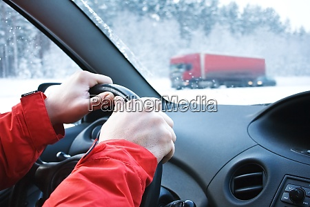driving in snowfall