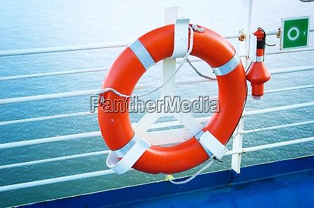 lifebelt on ferry