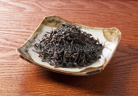japanese salt kelp on a japanese