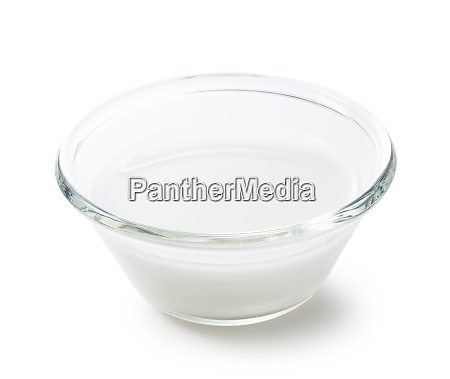 water soluble starch on a white