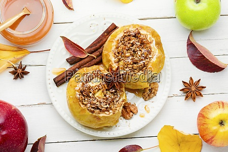 fruit dessert baked apples