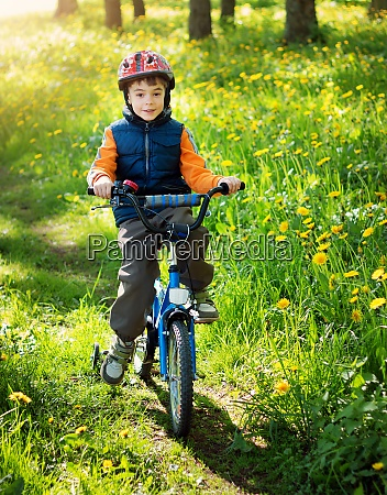 child bike at the park with
