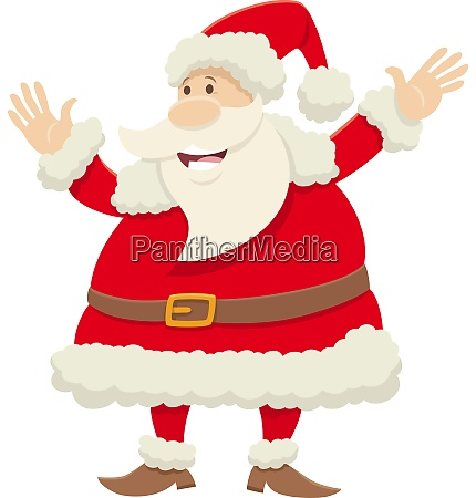 santa claus cartoon character celebrating christmas