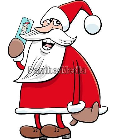 cartoon santa claus christmas character with