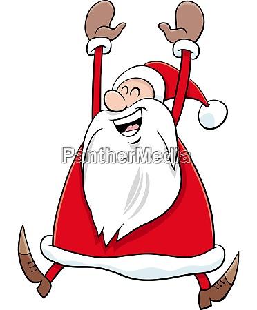 cartoon happy santa claus character on