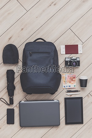 backpack and a set of all