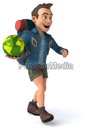 fun illustration of a 3d cartoon