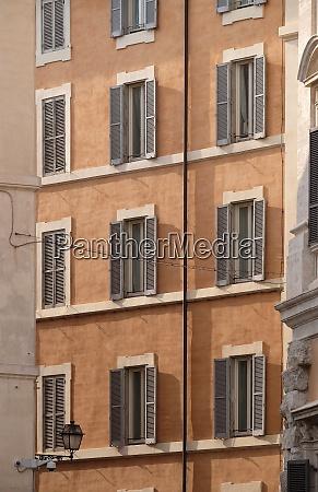 house facade at city center of