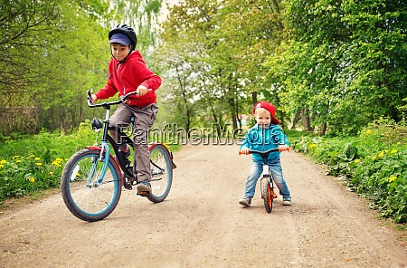 children on a bicycles