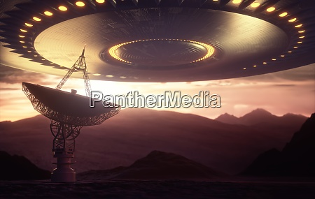 satellite dish signal ufo close encounters