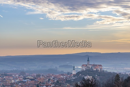 mikulov castle south moravia czech republic