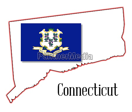 connecticut state map and seal