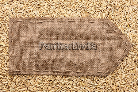 pointer of burlap lying on a