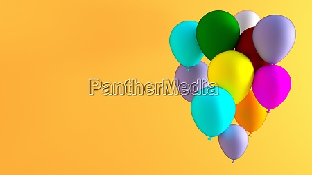 creative balloon abstract