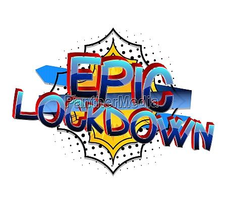 epic lockdown comic book style cartoon