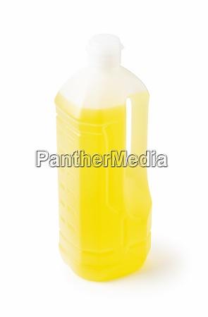 plastic bottle of vegetable oil
