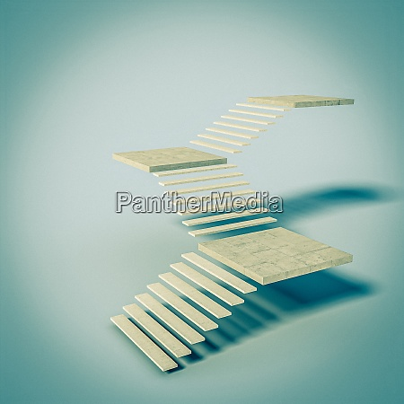 abstract image of concrete stairs nobody