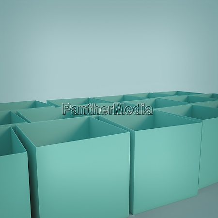 empty cube shaped boxes