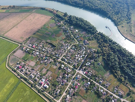 top view of the small village
