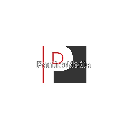 letter p on square design